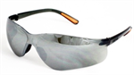 22-ว001-008 แว่นตานิรภัยเลนส์ดำฉาบปรอท รุ่นKY214F