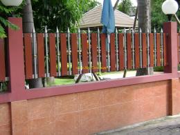 ประตูสแตนเลสผสมไม้ SW037