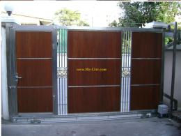 ประตูสแตนเลสผสมไม้ SW030