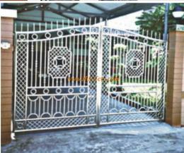 ประตูรั้วสแตนเลสแบบโปร่ง SS017