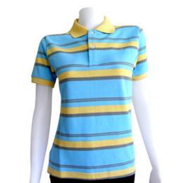 เสื้อโปโลสีฟ้า ผ้าลาคอส