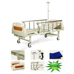 เตียงผู้ป่วยแบบธรรมดาพร้อมอุปกรณ์ 2 ไก