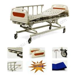 เตียงผู้ป่วยแบบธรรมดาพร้อมอุปกรณ์ 3 ไก