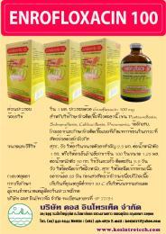 ยารักษาสัตว์ ENROFLOXACIN 100