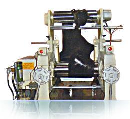 เครื่องรีดยาง 2 ลูกกลิ้งสำหรับใช้ในห้องทดลอง YFTR-8 18 L