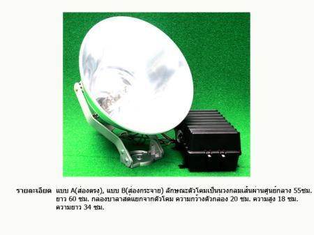 โคมไฟส่องสว่าง 1,000W (ชุดประหยัด)