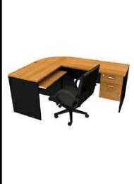 โต๊ะทำงานไม้  OF-4