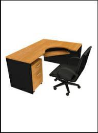 โต๊ะทำงานไม้  OF-2