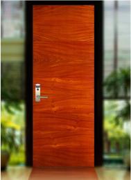 ประตูวีเนียร์ไม้จริง