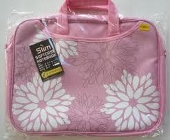 กระเป๋าใส่โน๊ตบุค หูหิ้ว ลายดอกไม้