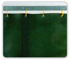 ม่านรางเชื่อมอุตสาหกรรม Welding strip curtains (green