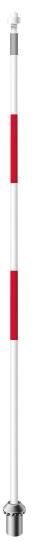 เสาธงไฟเบอร์กลาส สีขาว/แดง (Par Aide)