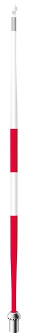 เสาธงทัวนาเม้นท์7.5ฟุตสีขาว/แดง (Standard Golf)