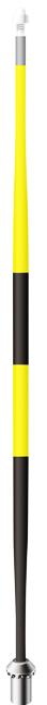 เสาธงทัวนาเม้นท์7.5ฟุตสีดำ/เหลือง (Standard Golf)