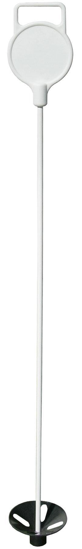 เสาธงกรีนมาร์คเกอร์  2.5 ฟุต สีขาว