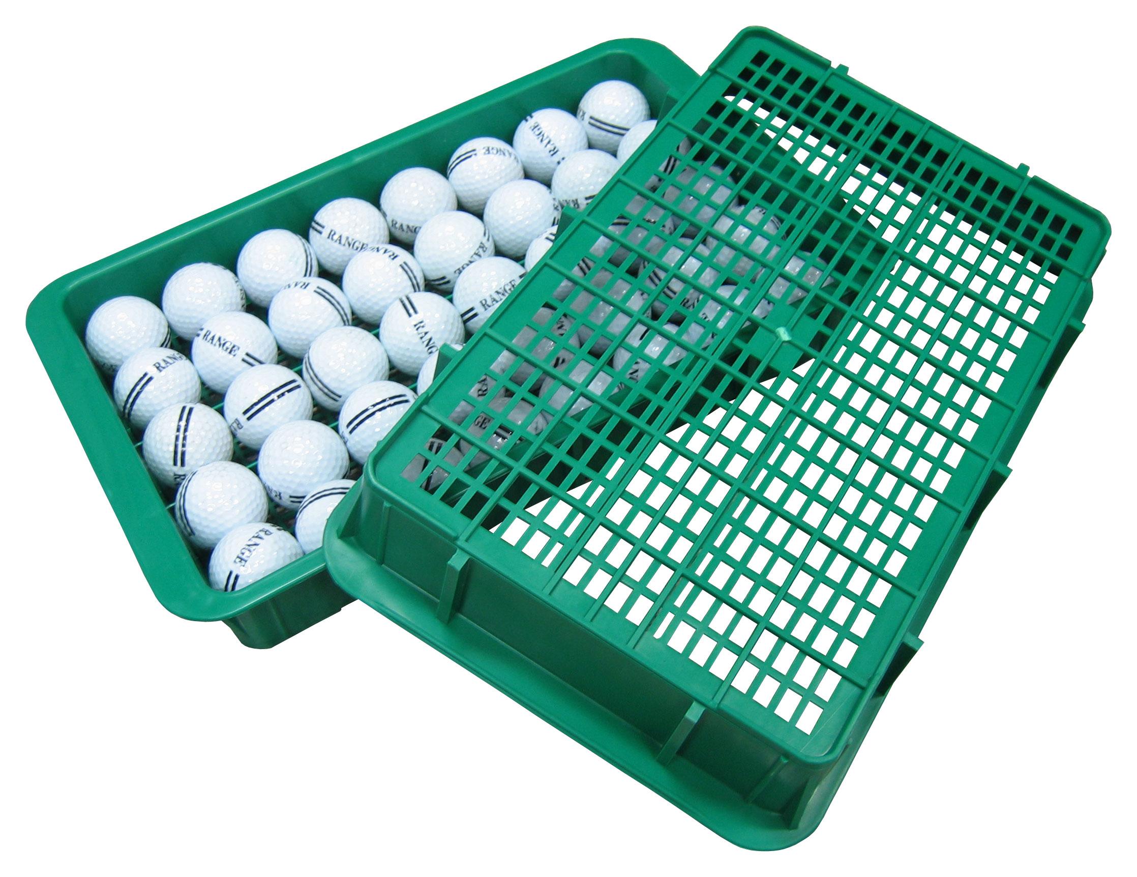ถาดใส่ลูกกอล์ฟสีเขียวขนาด40ลูก
