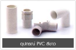 อุปกรณ์ PVC สีขาว