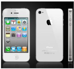 มือถือ iPhone 4S 16GB White Model MD239TH