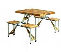 โต๊ะสนามไม้
