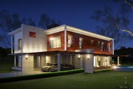 แบบบ้าน - Modern Emerald House