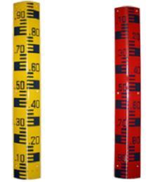 แผ่นวัดระดับน้ำ สต๊าฟเกจ (Staff Gauge)