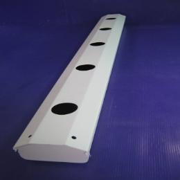 รางปลูก NFT แบบเปิด 1 เมตร (พื้นดำ, เฉพาะราง)