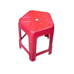 เก้าอี้พลาสติกไฟว์สตาร์ B สีแดง