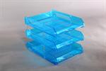 กะบะวางเอกสาร L3 สีฟ้าใส 002509
