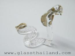 ตุ๊กตาแก้ว งูเลื้อย 06002
