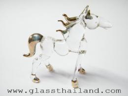 ตุ๊กตาแก้ว ม้ายืนสี่ขา 07001