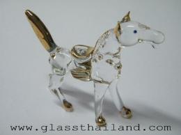 ตุ๊กตาแก้ว ม้าทรงเครื่อง  07005