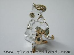 ตุ๊กตาแก้ว ลิงถุงทอง  09001