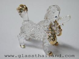 ตุ๊กตาแก้ว หมาพุดเดิล 11004