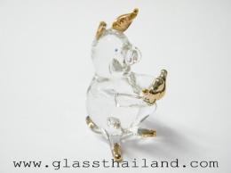 ตุ๊กตาแก้ว หมูก้อนทอง 12002