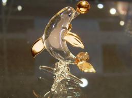 ตุ๊กตาแก้ว ปลาโลมาเดี่ยว g200d