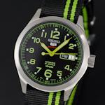 นาฬิกาข้อมือ   SEIKO   AUTOMATIC สายผ้าร่มแบบพิเศษ