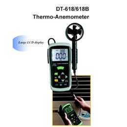 เครื่องวัดความเร็วลม ปริมาตรลม แรงลม-DT-618