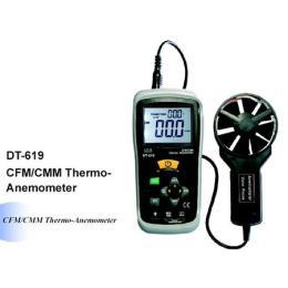 เครื่องวัดความเร็วลม ปริมาตรลม แรงลม-DT-619