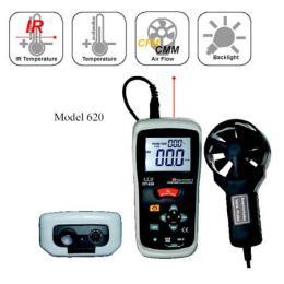 เครื่องวัดความเร็วลม ปริมาตรลม แรงลม-DT-620