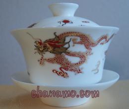 ชุดน้ำชา-ชุดชงชา-กาน้ำชา ถ้วยฮ่องเต้-ลายมังกร