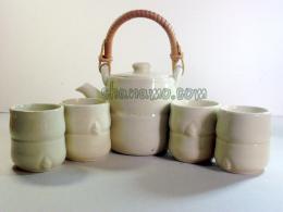 ชุดน้ำชา-ชุดชงชา-กาน้ำชา ชุดกาศิลาดล ฝีมือช่างล้านนา