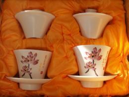 แก้วชงชา-ถ้วยน้ำชา ถ้วยฮ่องเต้ชุดคู่-ลายสวย