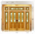 ประตู Stained Glass FRT001