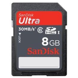 การ์ดความจำสำหรับกล้องถ่ายรูป SDSDH-008G-U46