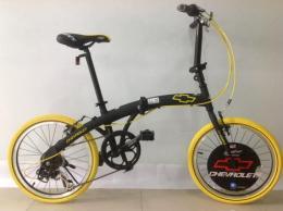 จักรยานพับ รุ่น FK207 สีดำ/เหลือง