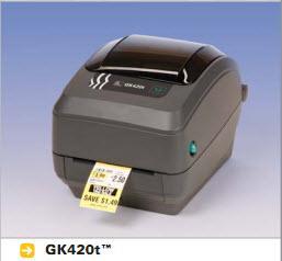 เครื่องพิมพ์บาร์โค้ด Zebra Printer GK-420t