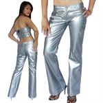 กางเกงหนังแก้วสีเงิน  FPV5