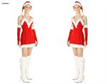 ชุดซานต้าผู้หญิง  X-MAS641