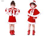 ชุดซานต้าเด็กผู้หญิง  XD011