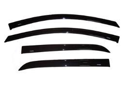 กันสาด Nissan Tiida 5 ประตู ทรงศูนย์ สีดำเข้ม